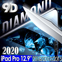 цена на 9D tempered glass for Apple iPad pro 12.9 2020 2018 screen protector for iPad 12.9 3rd 4th Gen glass Guard camera Lens Protector