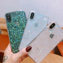 Tfshining Glitter Color Changing Phone Case for iphone X XS MAX XR 6 6S 7 8 Plus Magical Bling Soft TPU Back Shell Coque