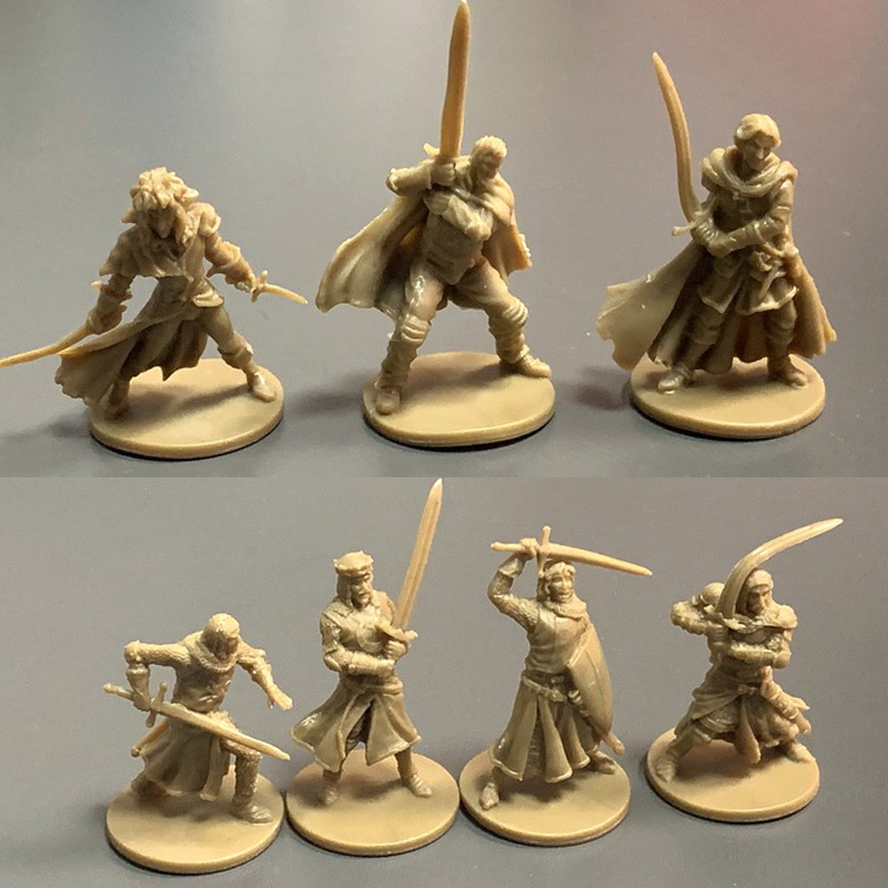 BIXE 7pcs 28mm Dungeons D& D Role Playing War Board Games Miniatures Model Underground City Series Wars Game Figures Set