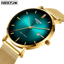 Relogio Masculino NIBOSI Top Brand Luxury Mens Watches Ultra Thin New Mesh Sport Men Watch Auto-Date Waterproof Quartz Watch Men все цены