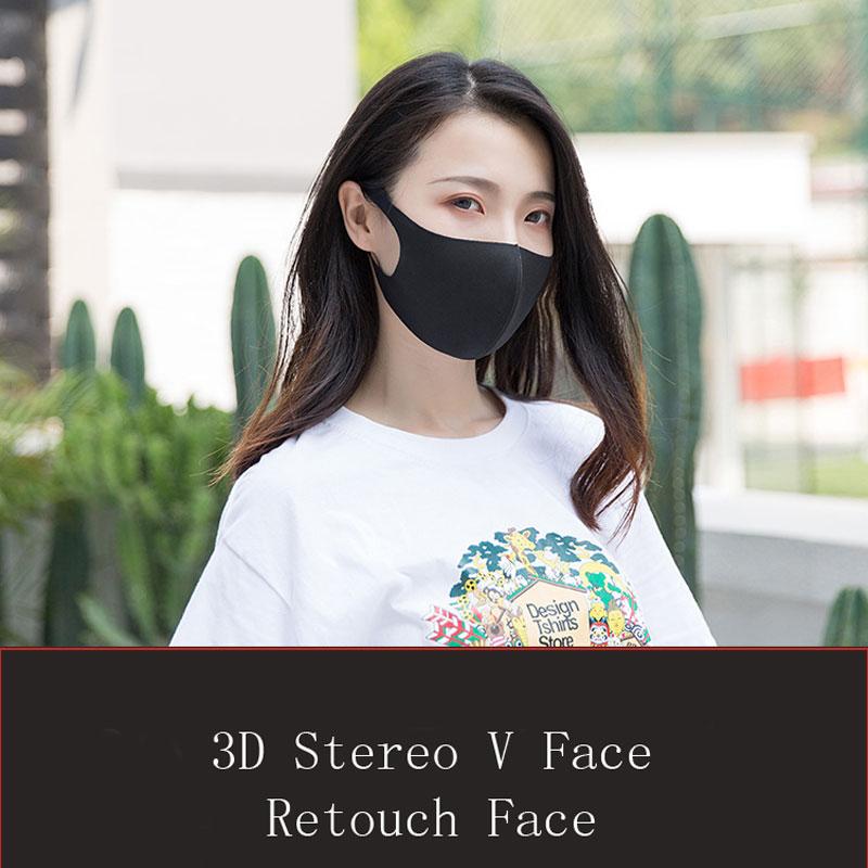 Fashion Women Men Cotton Dust Mask Breathable Black Reusable Face Maske Pollution Protective Masks Washable Mouth Face Mask