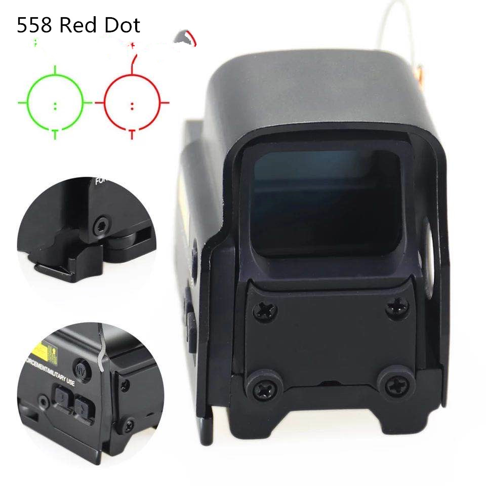 Tactical <font><b>558</b></font> Red dot Holographic Sight For Shotgun Optics Collimator hunting riflescope with 20mm Rail Mount for Airsoft&Softair image