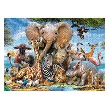 1000 шт пазлы - животный мир, образовательно-интеллектуальный распаковки забавная игра для детей взрослых