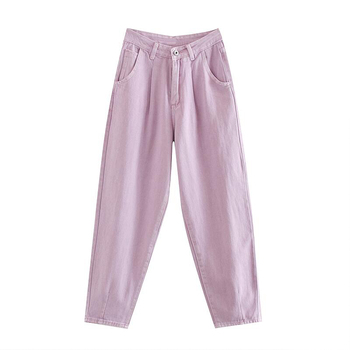catonATOZ 2248 Khaki Female Cargo Pants High Waist Harem Loose Jeans Plus Size Trousers Woman Casual Streetwear Mom Jeans 12