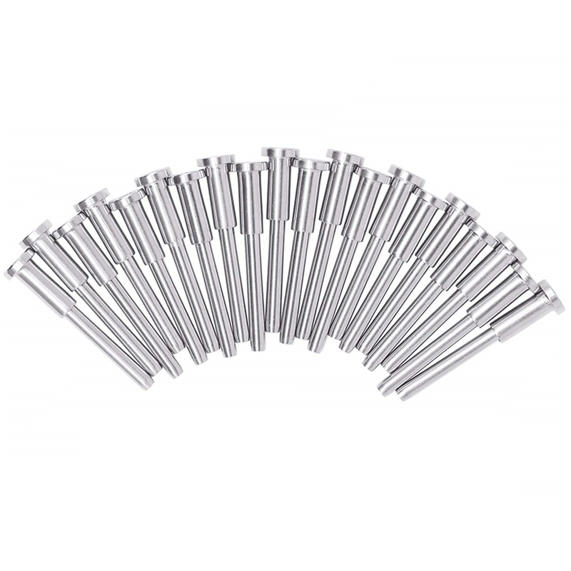 20 Pack Stainless Steel Invisible Receiver And Swage Stud End For 1/8 Inch Cable Railing, Deck Stair Threaded End Fitting For