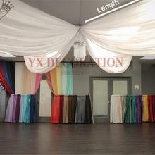 1 шт. продано шелк льда один кусок драпировка для потолка навес крыши драпировка фон занавес Swag для украшение для свадьбы