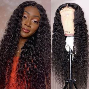 Image 4 - Brazilian Water Wave Lace Front Human Hair Wigs For Women PrePlucked Hairline 13x6 Water Curly Lace Front Wig Ali Annabelle Wigs