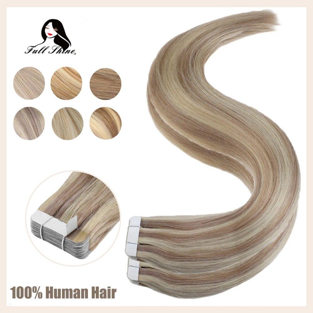 Волосы для наращивания, 40 шт., 100 г, 100% натуральные волосы для пианино, цветные волосы remy, лента для наращивания