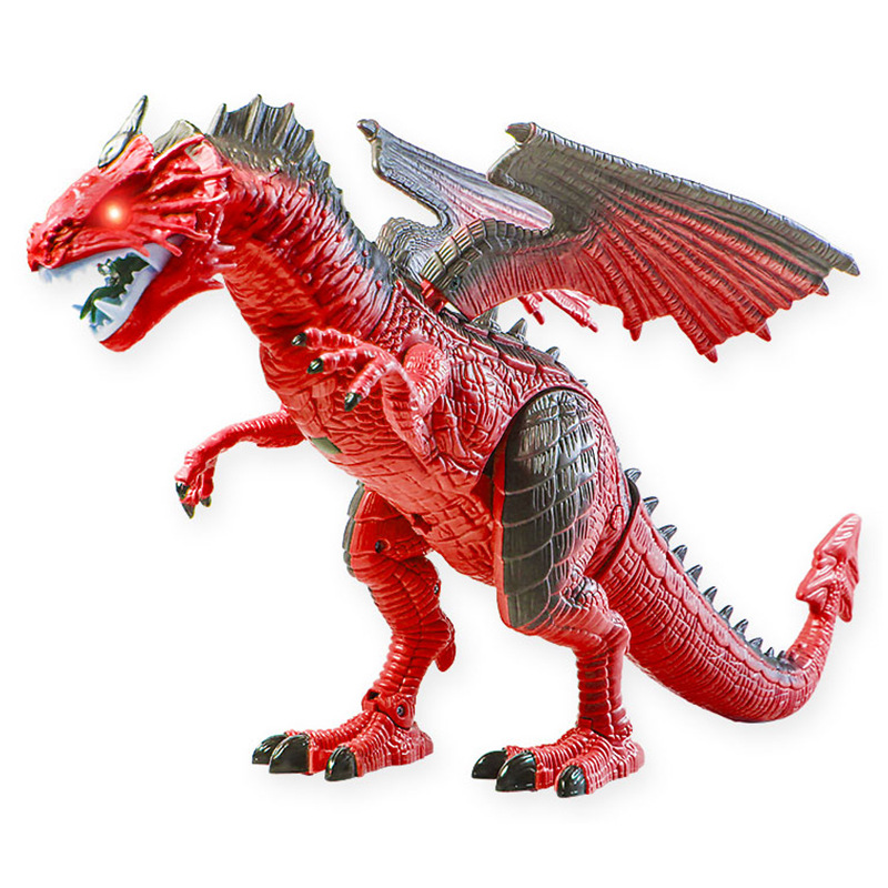 Dinosaur Island Remote Control Spray Smart Fire Dragon Ice Electric Dinosaur Toy Large Size Animal Model Spitfire Boy
