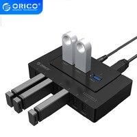 ORICO USB 2.0/3.0 HUB 10 Ports USB HUB 5Gbps Power Adapter High Speed  Splitter Adapter for PC LaptopNotebook-Black