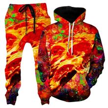 Newest Pizza suit Hoodies Fashion Men / Women Long Sleeve Outerwear food 3d Print pants Novelty Sweatshirts and jogger pant