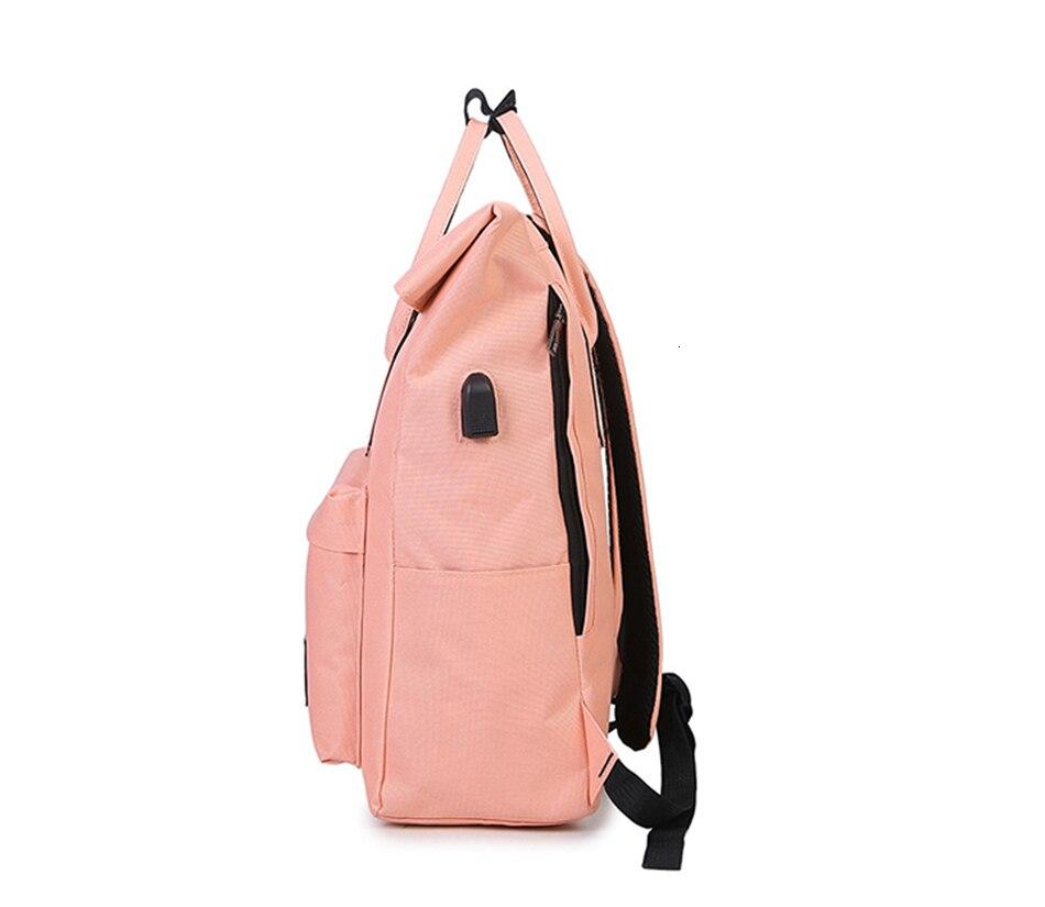 H1c1dbf115040456e9cd0b13988f72eae4 TTOU Women External USB Charge Backpack Canvas School Backpack Mochila Escolar Girls Laptop Backpack