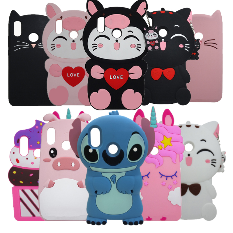 3D Cute Stitch Cat Minnie Horse <font><b>Case</b></font> For Huawei <font><b>Honor</b></font> <font><b>10i</b></font> 10 i HRY- LX1T 6.21