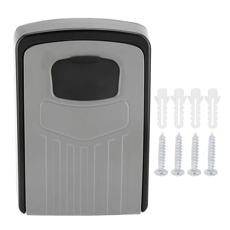 Top Deals Key Box 4-Digit Adjustable Combination Password Key Box Premium Security Lock Organizer Wall-Mounted Key Storage Lock