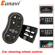 Eunavi Auto-Styling Universele Stuurwiel Controler Met Audio Volume Bluetooth Control Voor Dvd Gps Unit Radio