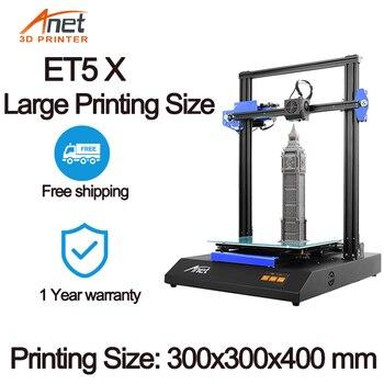 Anet ET4/ET5X 3D Printer kit impressora 3d Full Metal 3D Drucker Mean Well Power With 10M PLA Filament anet a6 desktop 3d printer kit with metal acrylic frame