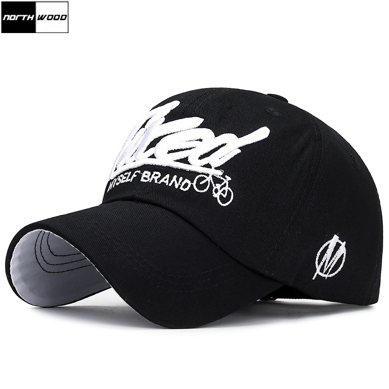 Dad Hat Baseball-Cap Letter Snapback Embroidery Cotton Women NORTHWOOD Gorras 3D Men's