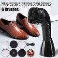 Портативный ручной автоматический электрический прибор для чистки обуви Автоматическая полировальная машина для обуви щетка для чистки о...