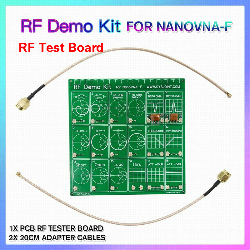 NanoVNA RF Test Board RF Demo Kit NanoVNA RF Test Board Vector Test Filter Attenuator For NanoVNA-F   H009