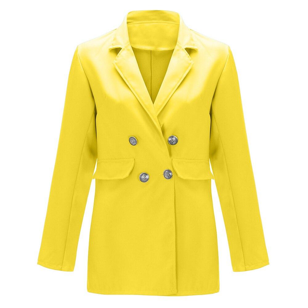 SZMALL Newest 2020 Pop EU Streetwear Women Blazer Long Sleeve Femlae Long Coat Outwear lady Button Slim Blazers Autumn Clothes
