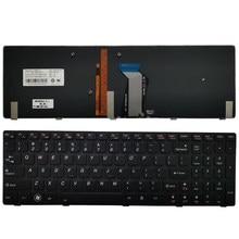 Novo teclado do portátil dos eua para lenovo ideapad y580 y580n y580nt eua teclado com luz de fundo 25207342 pk130n02c04