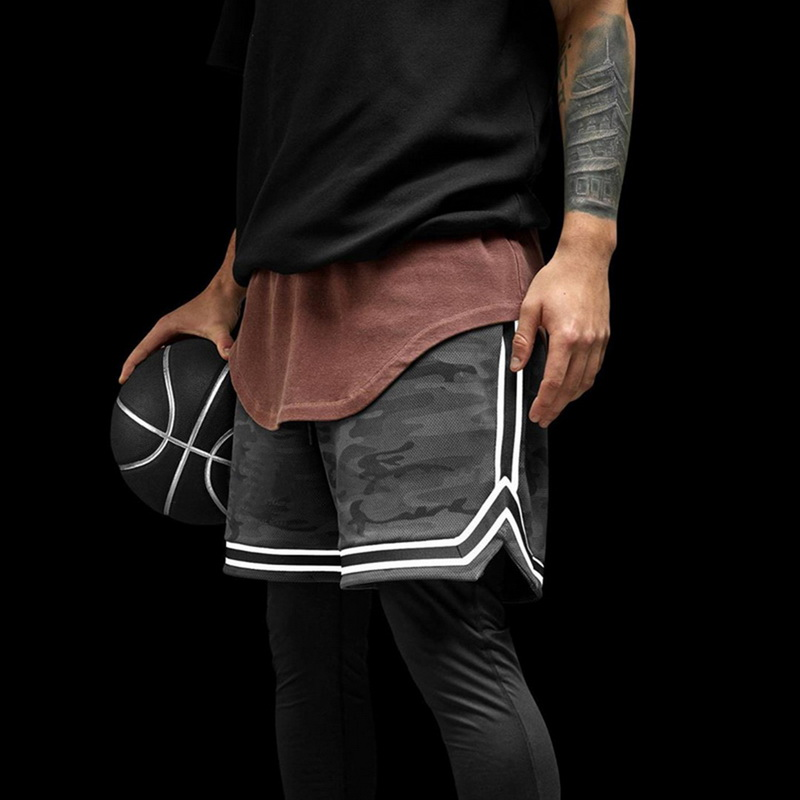 DIHOPE Basketball Shorts Men Running Sports Jogging Fitness Shorts Quick Dry Mens Gym Men Shorts Sport Gyms Short Pants 2020
