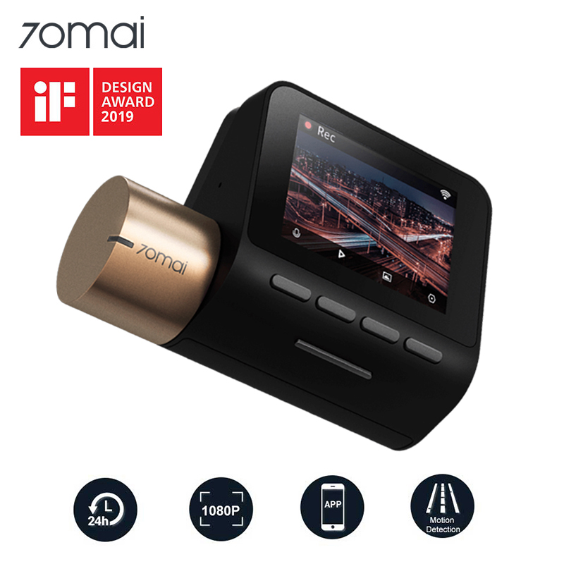 Xiaomi 70mai Dash Cam Lite 1080P GPS 70 Función de velocidad siempre Cam Lite 24 Horario de estacionamiento Monitor 130FOV Visión nocturna 70MAI Wifi Coche DVR