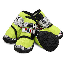 4 шт противоскользящая обувь для домашних собак, кроссовки, дышащие сетчатые пинетки для собак, уличные прогулочные ботинки для собак среднего размера