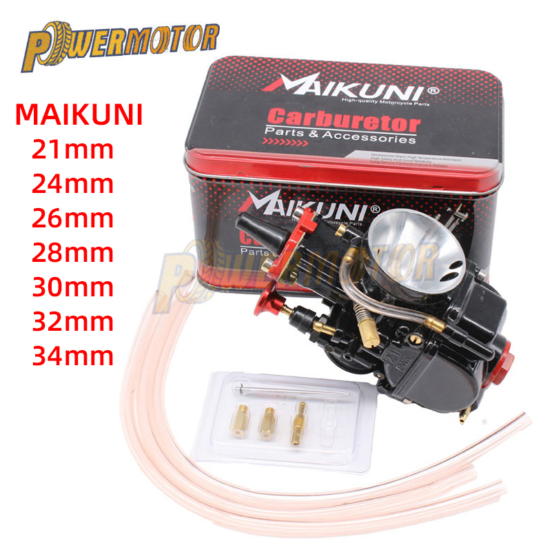New 21 24 26 28 30 32 <font><b>34mm</b></font> Universal Black Mikuni Motorcycle Engine <font><b>PWK</b></font> Carburetor Parts Scooters With Power Jet Dirt Bike ATV image