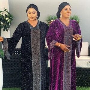 Muslim Fashion Abayas Dress for Women Turkish Islamic Clothing Mubarak Hot Drilling Muslim Abaya Ramadan Flare Sleeve Long Robe