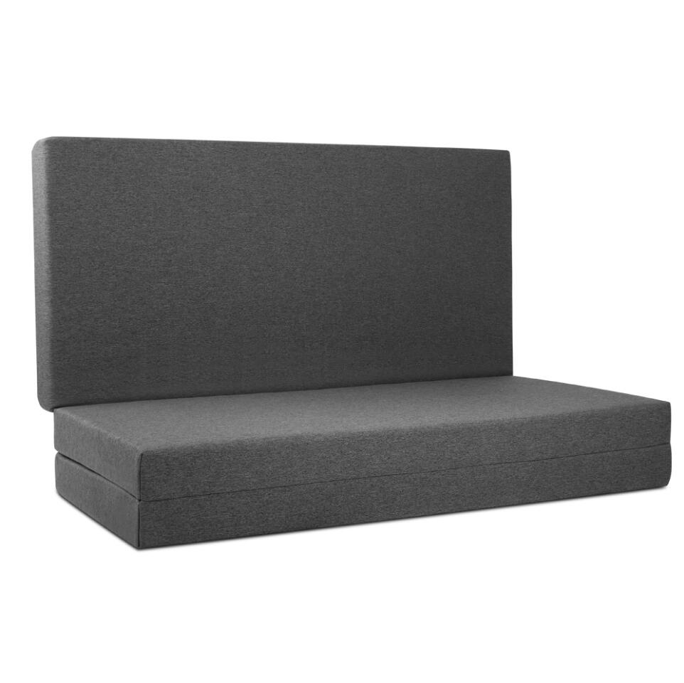Giselle Bedding Double Size Folding Foam Massage Bed Mattress Portable Bed Mat Dark Grey For Home Leisure Salon Furniture