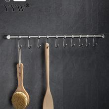 380x59x40mm Silver Stainless Steel Hook Bathroom Towel Hanger Clothes Hanging Rack Holder Hooks Kitchen Bathroom Accessories стоимость