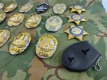 Insignia de policía SWAT de Los Ángeles, EE. UU., Estados Unidos, Insignia de Detective, broche Insignia 1:1, regalo para Cosplay