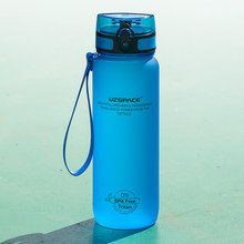 UZSPACE – bouteille d'eau de sport pour adultes, en plastique Tritan, anti-fuite, pour boire directement du lait citron, tasse de voyage d'escalade en plein air, 800ml