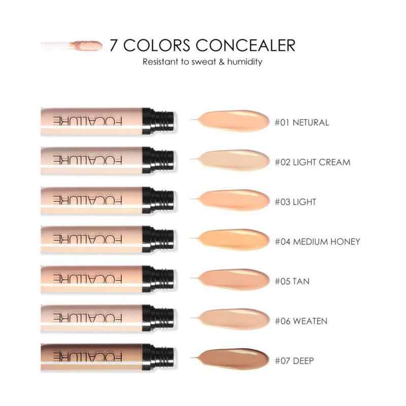 Focallure cobertura completa corretivo líquido olho círculos escuros acne creme rosto corrector à prova dwaterproof água base maquiagem cosméticos 7 cores tslm1