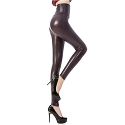 Skinny Faux Leather Leggins for Women Sexy Elastic Faux Leather Pants Women High Waisted PU Faux Leather Pants Women Trousers