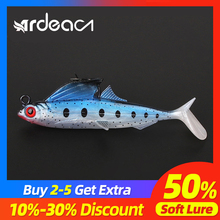 ARDEA soft lure with jig head soft plastic lure 85mm 11.6g lead lure soft tail lure soft lure perch lure soft