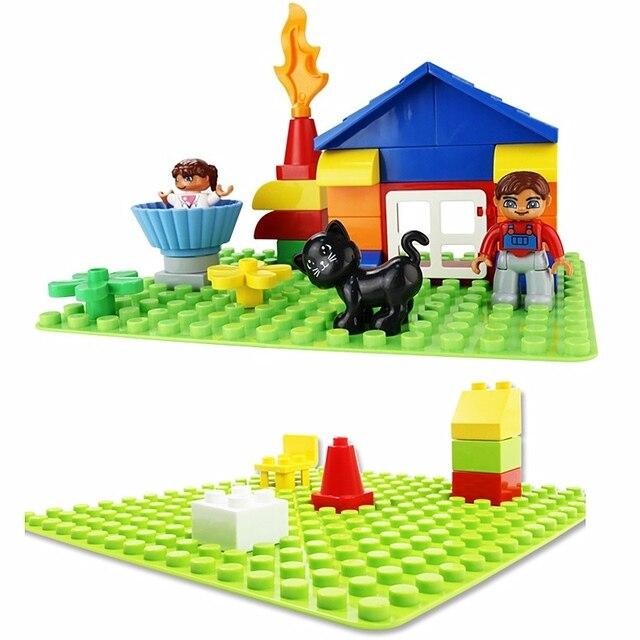 Duploed Set di Animali Building Blocks Figure Dinosauri Coccodrillo Elefante Zoo Serie FAI DA TE Blocchi Per Bambini Giocattoli Educativi Regali 5