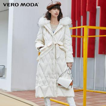 Vero Moda Womens Long Cinched Waist Parka Coat  Down Jacket | 319412515