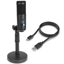 Tabletop Metal USB Microphone Professional Condenser Microphone for PC Computer Laptop