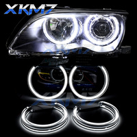 Angel Eyes LED Switchback Halo Running Lights DTM For BMW 3 E46 E39 E36 E38 Xenon Halogen Lens Headlight Retrofit Accessories