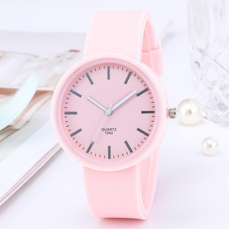 2020 New Fashion Women's Watch Ins Trend Candy Color Korean Wrist Watch Silicone Jelly Watch Clock Gift