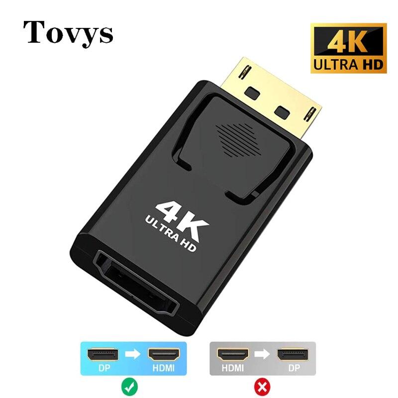 Со сверхвысоким разрешением Ultra HD, 4K, 2160P Displayport в HDMI-совместимого адаптера DP мужчина к HDMI Женский аудио-видео Converte адаптер для ПК ТВ проектор