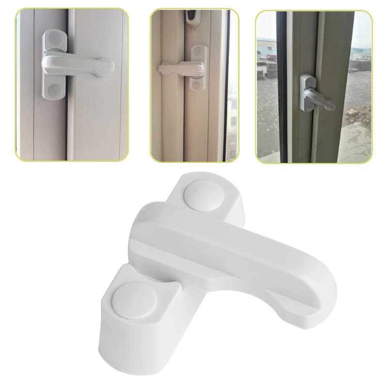 Plastic Child Safe Security Window Door Sash Lock Safety Lever Handle Sweep Latch