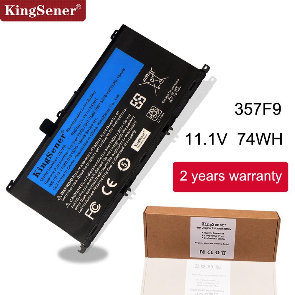 KingSener 11.1V 74WH 357F9 Batterie Pour Dell Inspiron 15-7000 7559 7557 7566 7567 5576 INS15PD-1548B INS15PD-1748B INS15PD-1848B