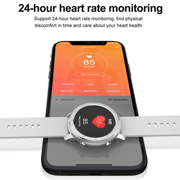 Full Touch Smart Watch Women IP68 Waterproof Bracelet ECG Heart Rate Monitor Sleep Monitoring Sports Smartwatch For Ladies 5