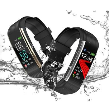 цена на R1 Heart Rate Sleep Monitor Pedometer Smart Bracelet Bluetooth Sport Waterproof Smart Band for Android iOS Bracelet