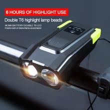 Inteligentne indukcyjne przednie światło roweru zestaw LED ładowane na USB światło rowerowe tylne z lampą Horn latarka rowerowa wodoodporna tanie tanio fivemi CN (pochodzenie) bike accessories light Kierownica Baterii 2*T6 Flashlight Lantern For A Bicycle Overcharge and over discharge protection