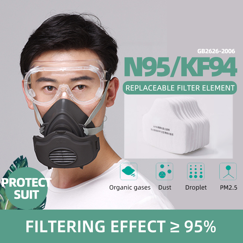 FFP2/KN95 Face Masks Filter  Antivirus Mascherine Respirator Dust Maske Mascarilla N95 Kf94 Respirator Mask Goggles