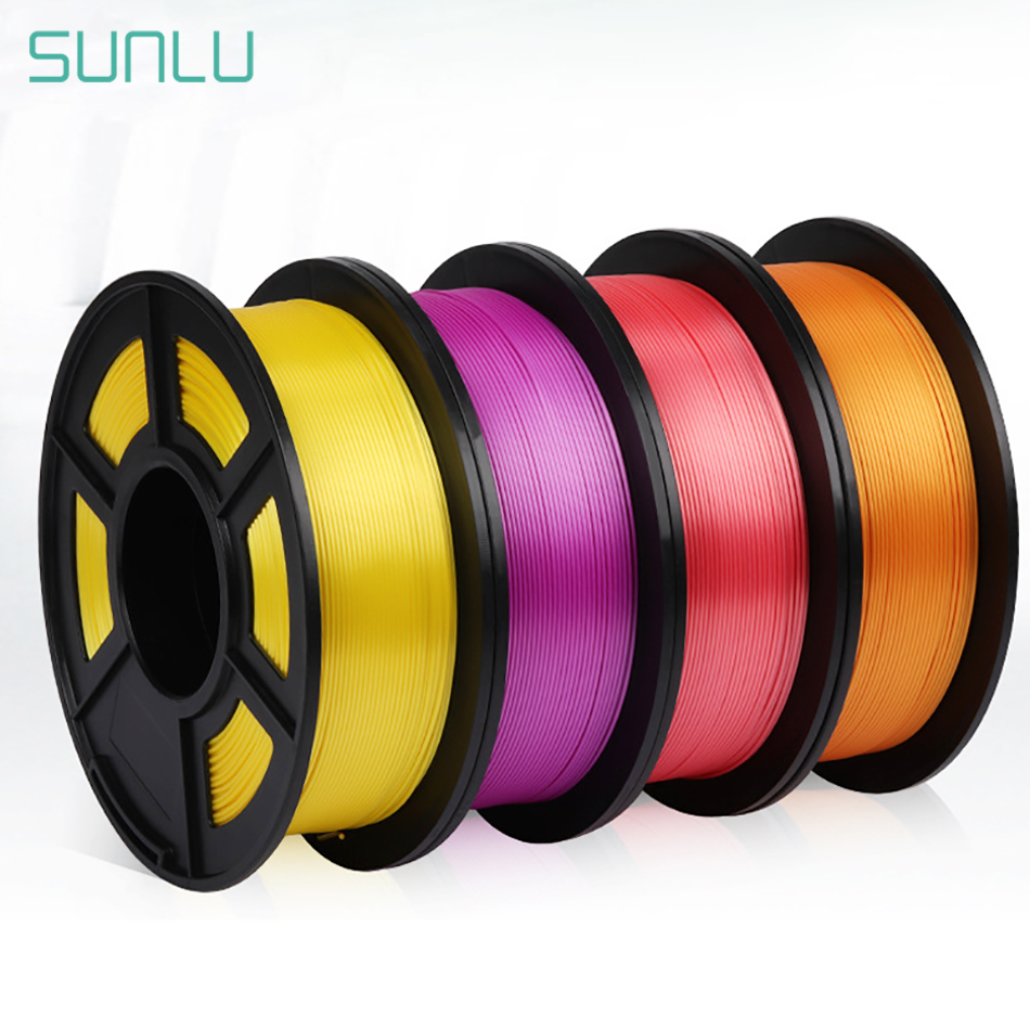 SUNLU Filament PLA Plus 1.75MM 1KG Silk PLA 3d Filament For 3d Printer Supplies Neat Winding Printing No Tangle